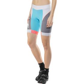 Cube Teamline Bike Pants Short Dame blue'n'grey'n'coral